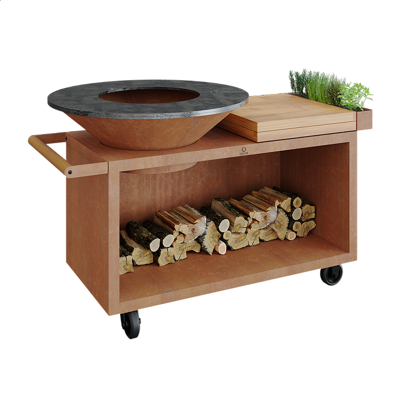Ofyr island corten 100 pro teakwood